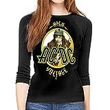 Camiseta Mujer ACDC High Voltage Women Baseball T Shirts 3/4 Sleeve Raglan Softball tee Tops