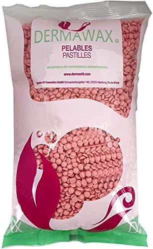 Dermawax- 1kg de cire rose- Film de cire de qualité supérieure Perles de cire chaude pour Épilation, épilation de tout le corps- Épilation à la cire sans bandes pour usage domestique ou professionnel