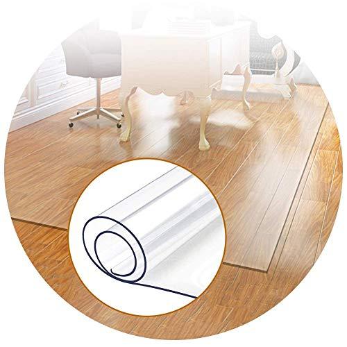 Leilims Hartbodenstuhl Mats 100% PVC Schall, antistatisch, verringern Ermüdung, Teppich-Schutz, Anpassbare (Color : 1.5mm, Size : 120x120cm)