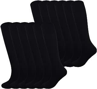 Fitliva Knee High Long Sports Socks Unisex Multicolor 3/6/12 Pairs