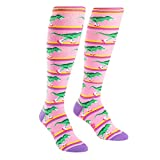 Sock It To Me Women's Rawr-ler Rink Dinosaur Knee High Socks