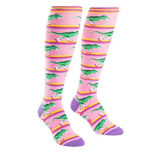 Sock It To Me Women's Rawr-ler Rink Dinosaur Knee High Socks