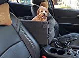 Ximei Dog Booster Car Seat Center Console Dog Pet Booster Car Seat Dog Cat Travel Seat Puppy Console for SUV Secure Safety Seat Perfect for Small Dogs Pets and Cats (Black)