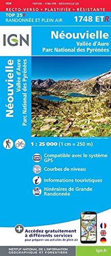 Neouvielle / Vallee d'Aure / Parc Naturel Regional des Pyren 2017 (Top 25 & série bleue - Carte de randonnée)