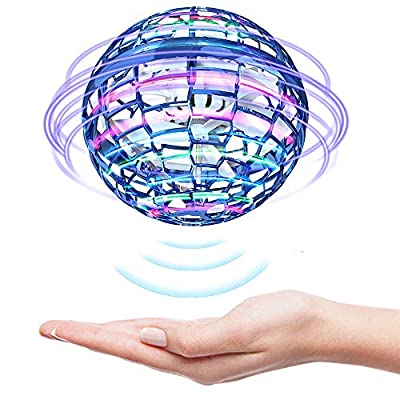 GEYUEYA Home Flying Ball Toys, Drone for Kids Hand Controlled Ball Mini Drone Flying Toys with Colorful LED Lights, 360° Rotating, for Kids Boys Girls