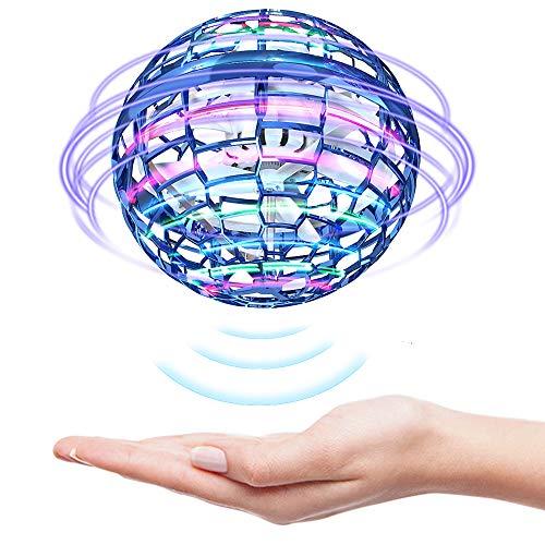 Flying Ball Fliegendes Spielzeug, Mini Drohne Kinder 360° Drehung mit Helle LED-Lichter, Drohne Indoor Outdoor Kinder Spielzeug Geschenke für Kinder Jungen und Mädchen