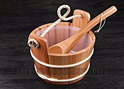Wooden bucket and ladle - click on photo for more information