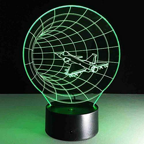 MCJDF Visuelle Illusion der Lampen-transparentes Acrylnachtlicht der Zeitmaschinen-3D führte feenhafte Farbändernde Noten-Tabelle
