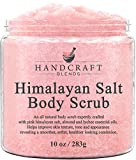 Handcraft Himalayan Salt Body Scrub, Foot Scrub, Hand Scrub - Moisturizing & Exfoliating Full Body Scrub with Lychee Oil & Sweet Almond Oil for Removing Dead Skin Cells - 10 oz