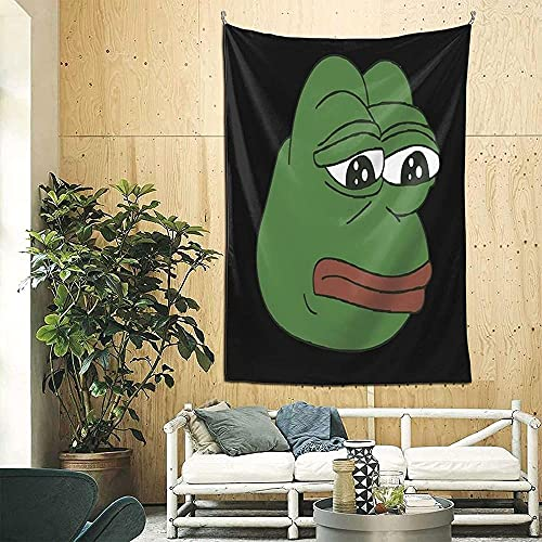 Pepe The Frog Meme 3d Boutique tapiz de pared decorativo Pop Art Retro micro microfibra decoración del hogar 90in * 60in