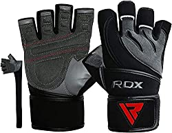 Resilient and highly durable authentic NAPPA cowhide leather made weight lifting gloves Exclusive gripping material on palm coupled with gel padding provides shock-absorbent hold on weights when lifting. Shell-Shock gel lined padding with exclusive g...
