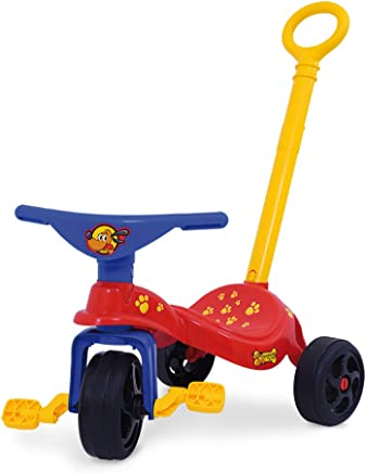 Triciclo Cachorrinho Com Empurrador Xalingo Triciclo Cachorrinho Com Empurrador Vermelho/azul Médio