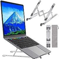 Aeerd ノートパソコン スタンド 折りたたみ式 ラップトップスタンド PCスタンド iPadスタンド 7段の高さ調節可能 【 収納袋付き】