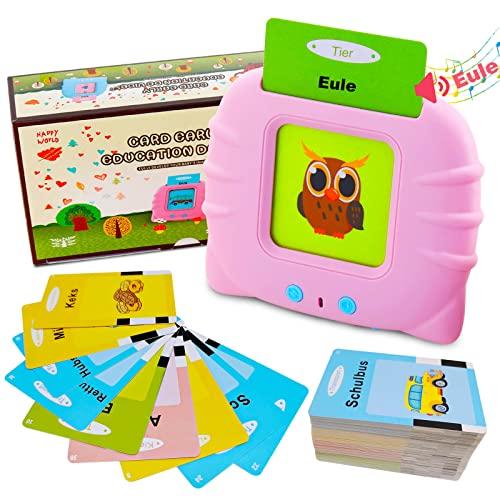 Lernspielzeug für 1-6 Jahre alt, 112 Blätter 224 Wörter sprechende Baby Flash...