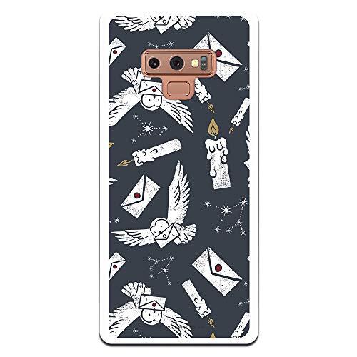 Funda para Samsung Galaxy Note 9 Oficial de Harry Potter Lechuzas Siluetas para Proteger tu móvil. Carcasa para Samsung de Silicona Flexible con Licencia Oficial de Harry Potter.