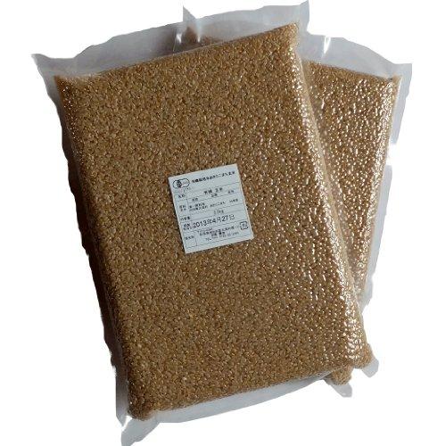 【令和2年産】JAS有機栽培米あきたこまち 玄米5kg(真空パック2.5kg×2)