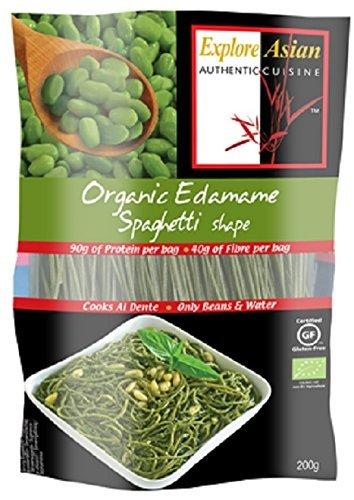 Explore Asian Glutine Edamame Libero E Organico Di Spaghetti 200 g (Confezione da 6)