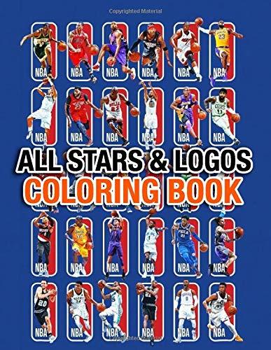 NBA All Stars Coloring Book: 30 NBA all stars and 30 logos of all teams