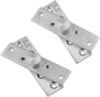 Eforlike 2 Sets Stainless Steel 360 Degree Rotation Hidden Door Pivot Hinges (Central Axis Hinge Large)