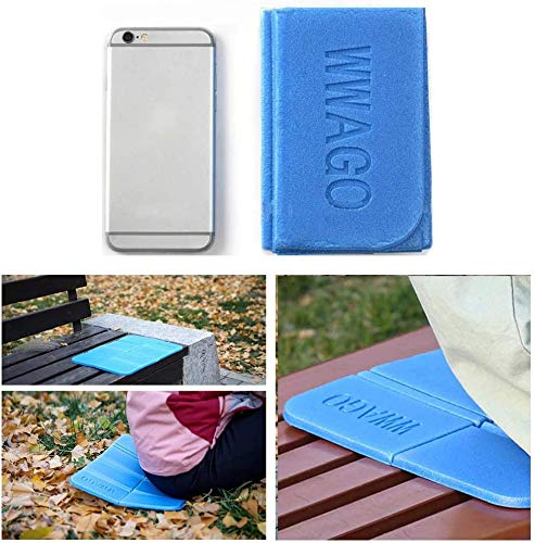 2Pcs Insulated Folding Sit Mat, Moisture-Proof Foldable Foam Mat Thermal Seat Pad Cushion with 2pcs Storage Bag for Outdoor Camping Hiking Park Picnic