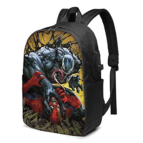 Ve-nom - Mochila para portátil de 17 pulgadas con mochila informal para adolescentes y estudiantes de viaje