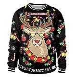 felpe natalizie pullover natalizio maglioni natalizi uomo donna felpa maglione stampa natale girocollo senza cappuccio divertenti renna coppia maglie invernali oversize larghe unisex magliette m