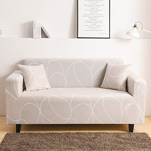 Mayama - Funda de sofá extensible estampada para sofá de 3 plazas, bonito diseño, protector de muebles, funda para sillones y sofás, fundas asequibles de 3 plazas (195-230 cm)