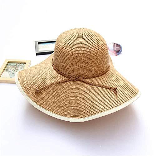 For Mujer Sombrero de Sol del Sombrero de Paja Playa del Verano...