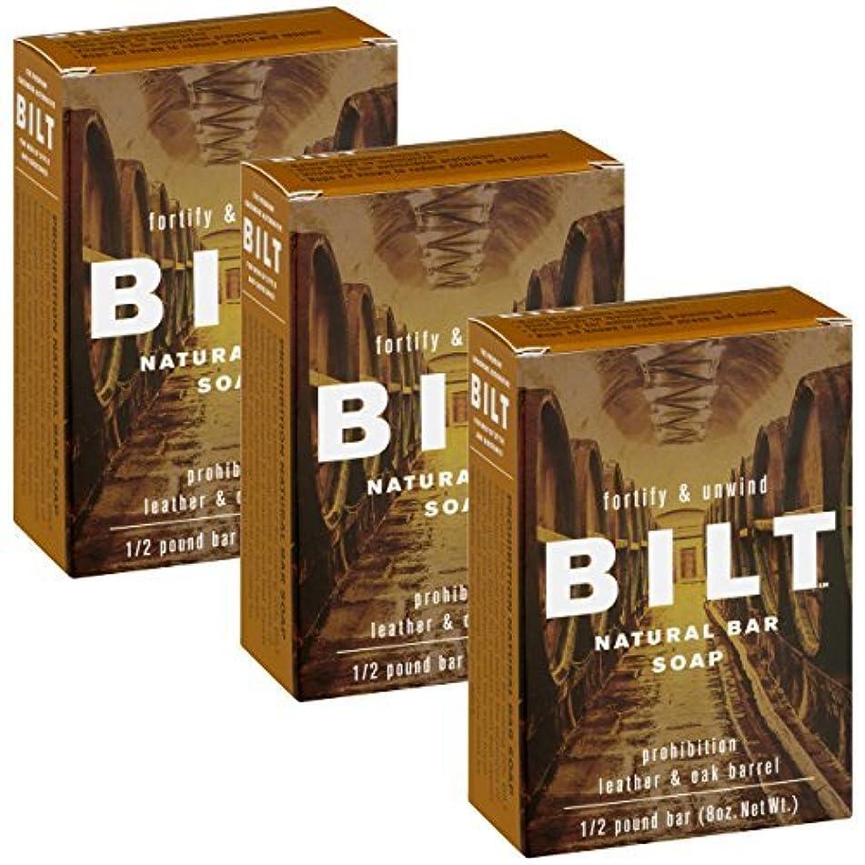 BILT Natural Bar Soap for Men 8 oz, Prohibition