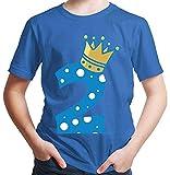 Hariz – Camiseta de manga corta para niño, diseño de corona de príncipe 2 cumpleaños azul real 92 cm