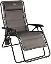Timber Ridge Balsam Deluxe Zero Gravity Lounger Oversize Outdoor Recliner Chair, Grey