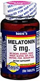Basic Vitamins Melatonin 5 mg Tablets - 200 ct