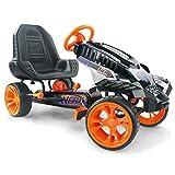 Hauck Nerf Battle Racer Go-kart - Véhicule à pédales avec supports Nerf Blaster, pneus EVA, assise réglable, frein à main pour les deux roues arrière