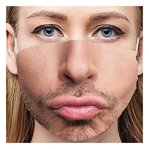 Mundschutz Multifunktionstuch 3D Druck Lustig Bandana Maske Waschbar Wiederverwendbar Stoffmaske Erwachsene Mund-nasenschutz Stoff Atmungsaktiv Staubdichte Halstuch Bandana für Herren Damen (A7)