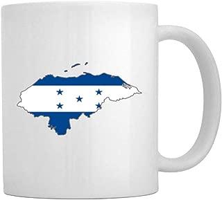Teeburon Honduras Country Map Color Simple Mug 11 ounces ceramic