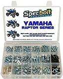 250pc Specbolt Yamaha Raptor 600 660 700 Bolt Kit for Maintenance & Restoration OEM Spec Fasteners ATV Quad Also Good for 80 90 125 250 350