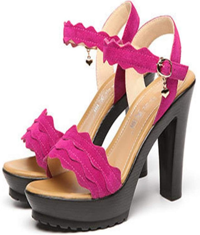 Gusha Thick Heel Women's shoes Fashion Platform high Heel Open-Toe Sandals