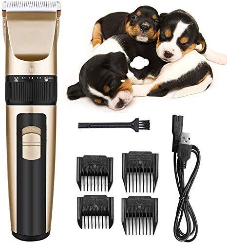 Pelo tijeras de la herramienta de corte eléctrico Clippers Clippers for perros mascotas Inalámbrico perro Trimmer preparación del animal doméstico Kit de herramientas de bajo ruido tijeras profesional