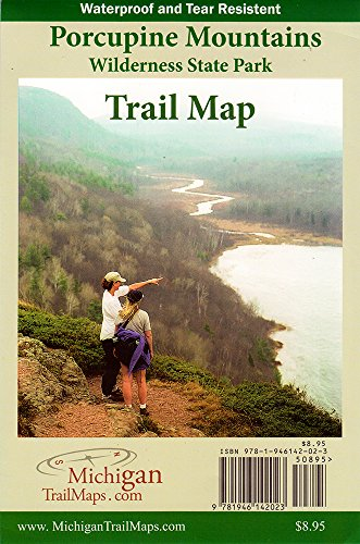 Porcupine Mountains Wilderness State Park, Trail Map