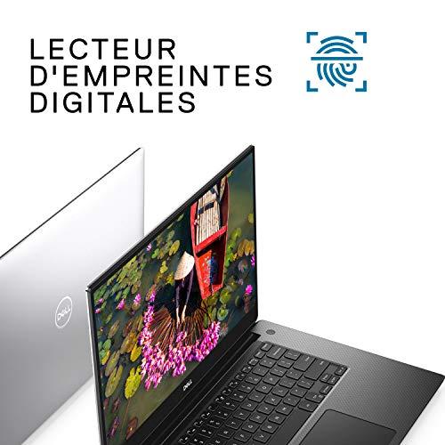 Dell XPS 15 7590 Ordinateur Portable Ultra Leger Intel Core i5-9300H 15.6' IPS Full HD Silver 8Go de RAM SSD 512Go NVIDIA GeForce GTX 1650 4GB Windows 10 Home Clavier AZERTY Français