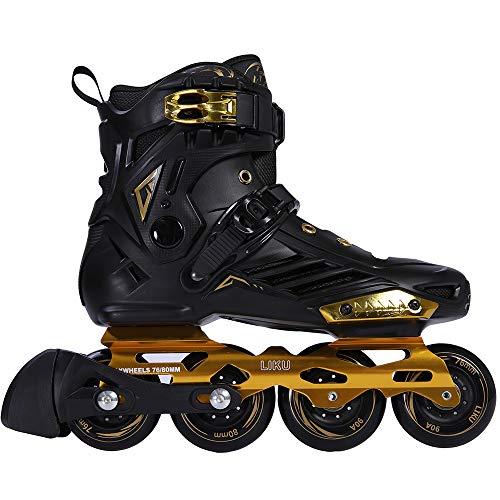 LIKU Unisex Fitness Inline Skates Black&Gold