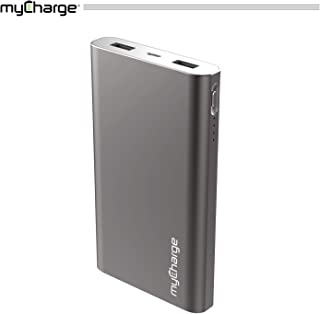 myCharge RazorMax Portable Charger 8000mAh / 2.4A Dual USB Port External Battery Pack Power Bank for Cell Phones (Apple iPhone Xs, XS Max, XR, X, 8, 7, 6, SE, 5, Samsung Galaxy, LG, Motorola, HTC)