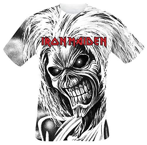 Iron Maiden Killers Allover Männer T-Shirt weiß XXL 100% Baumwolle Band-Merch, Bands