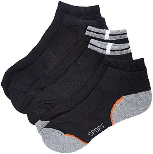 Nur Der Herren Sneaker Socken Sport 3er Sneakersocken, Schwarz (schwarz), 43/46 (Herstellergröße: 43-46)