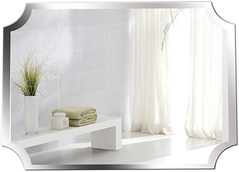 Simple Frameless Bathroom Mirror, Living Room Decorative Mirror-Dressing Mirror-HD Makeup Mirror-50x70cm (color   -, Size   -)