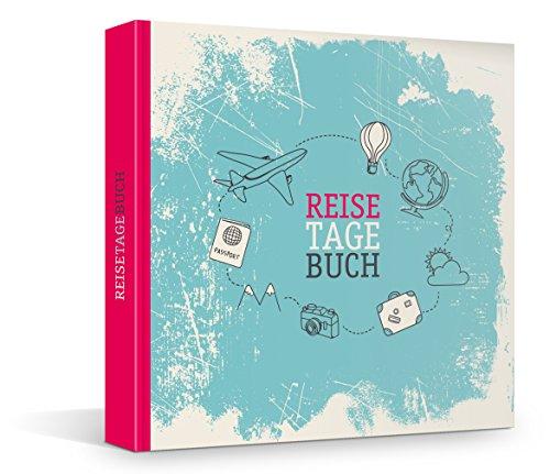 Reisetagebuch mit Hardcover zum Selberschreiben & Selbstgestalten, Fadenheftung (kein Ausreißen d. Seiten), über 200 Blanko-Seiten für persönliche Reiseberichte, Notizbuch, Travel Journal, 21 x 21 cm