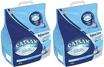 2x 20l Catsan Hygiène litière non agglomérante pour chat multibuy