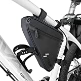 CbRSPORTS Bike Triangle Frame Bag Waterproof Large Bicycle Storage Bag Accessories Phone Handlebar Pack Bike Wedge Tube Bag Cycling Front Saddle Frame Pouch for Road and Mountain Bikes