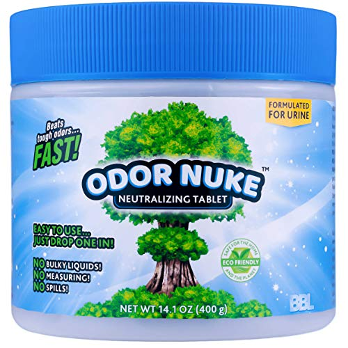 ODOR NUKE Human Urine Odor Neutralizer Tablets To Kill Urine Smell In Camping Toilets, Portable Urinals for Men, Bedside Commodes, Bed Pans, Travel Trucker Urinals, Urinals For Toddlers (14.1oz)