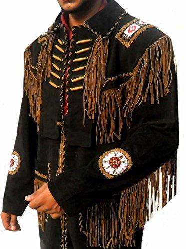 Classyak Western Leather Jacket, a Grade Suede Leather, Xs - 5xl (XL)